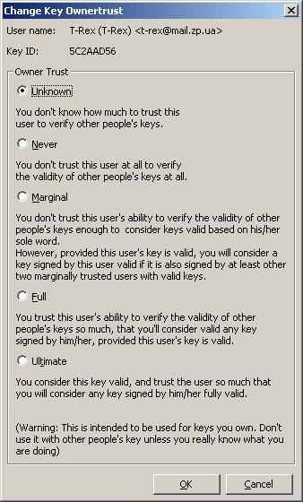 'Edit Owner Trust' Dialog