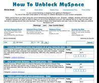 How to Unlock MySpace