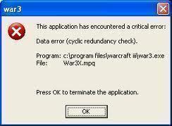 Data Error Cyclic Redundancy Check