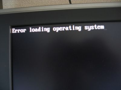 Error Loading Operating System