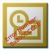 Error Number: 0x800CCC0E