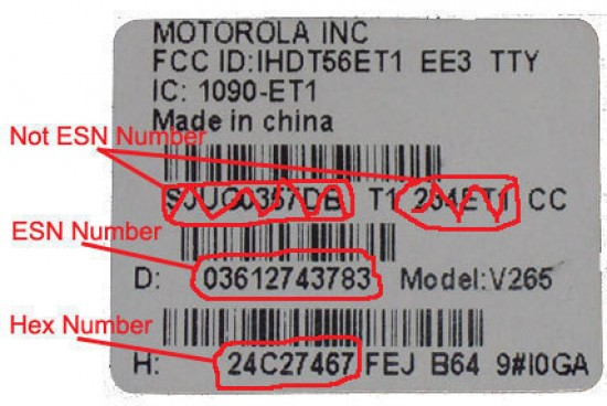 ESN (Electronic Serial Number)