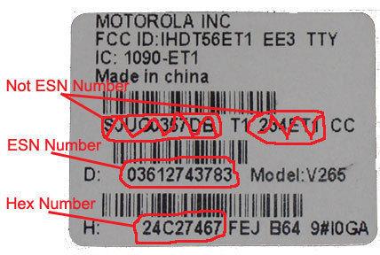 esn ESN (Electronic Serial Number)