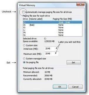 How to Change the Swap File Settings