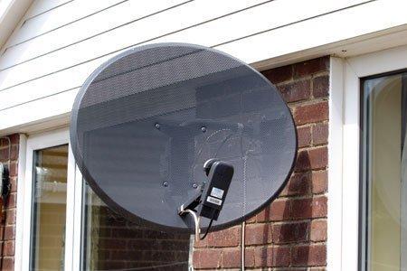 rental unit satellite dish