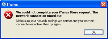 iTunes Timeout