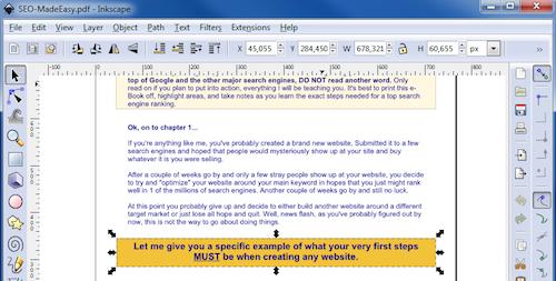 Inkscape PDF editing