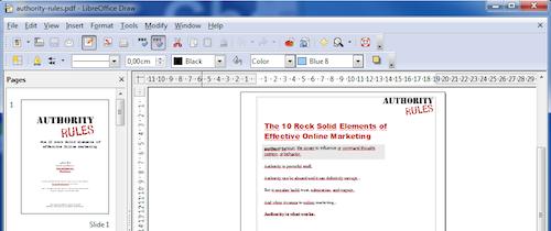 LibreOffice Draw PDF Editing