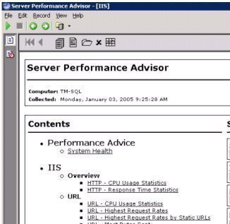 IIS Performance Monitoring and Tuning