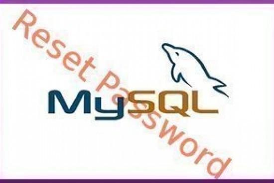 How to Reset a MySQL Password