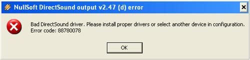 Error 88780078