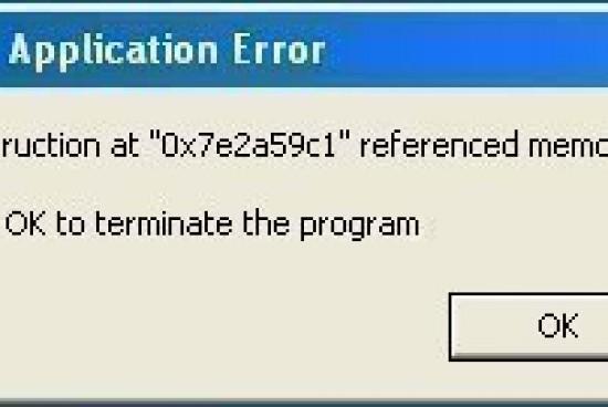 IEXPLORE.EXE Application Error