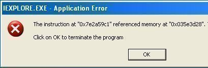 Resolving The IEXPLOREEXE Application Error
