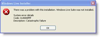 Error 0x8000ffff