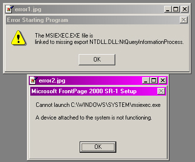 Resolving ntdll.dll Errors