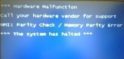 NMI Parity Check/Memory Parity Error