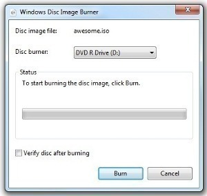 How to Burn an ISO Image