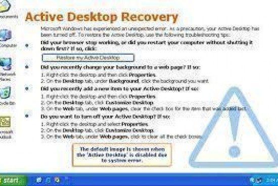 How to Restore Active Desktop