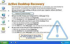 How to Restore Active Desktop