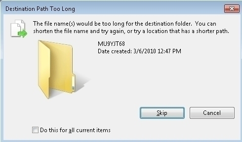 "How to Solve ""Cannot Copy the Path is Too Deep"" with My USB Drive"