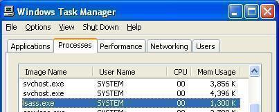 Lsass.exe System Error