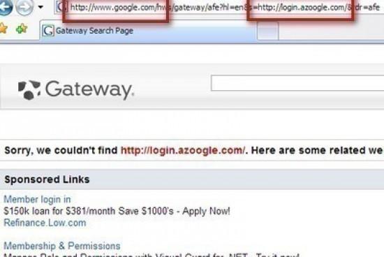 Browser Address Error Redirector