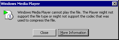 Windows Media Player Error 0xc00d1199