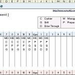 making a schedule in excel