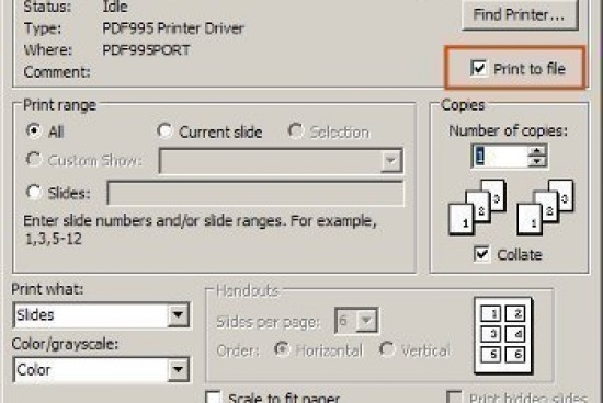 How to Print to a File