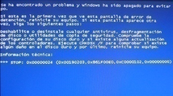 Blue Screen Stop 0x00000024