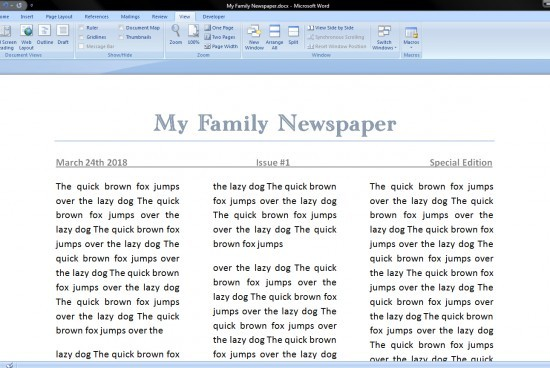 How to Make a Newspaper on Microsoft Word