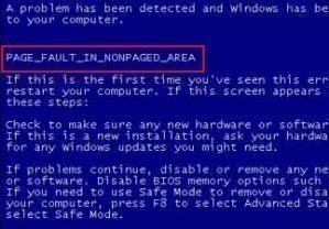 "How to Fix ""Page Fault in Non-paged Area"" in Windows 7"