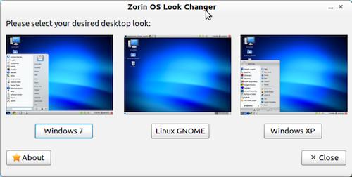 ZorinOS Look Changer