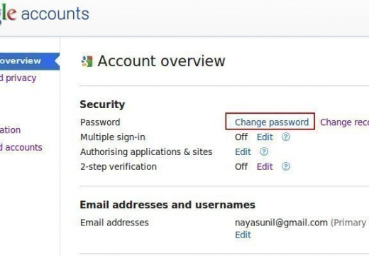 How to Change a Password on Google Plus