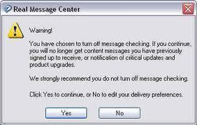 How to Disable Real Message Center