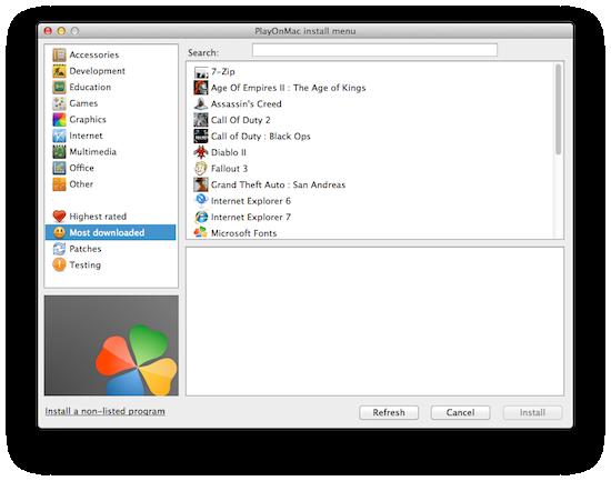 PlayOnMac Install Programs