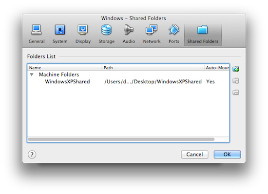 Virtualbox shared devices