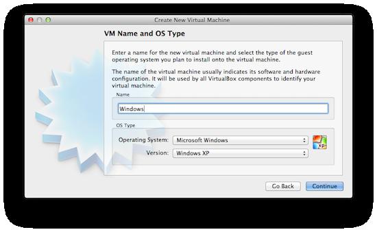 Virtualbox - Select OS