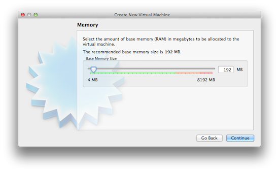 Virtualbox - Allocate memory