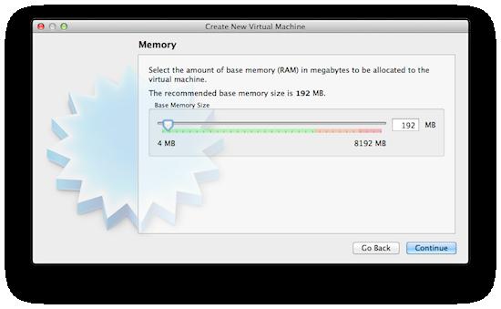 Virtualbox - Allocate memory