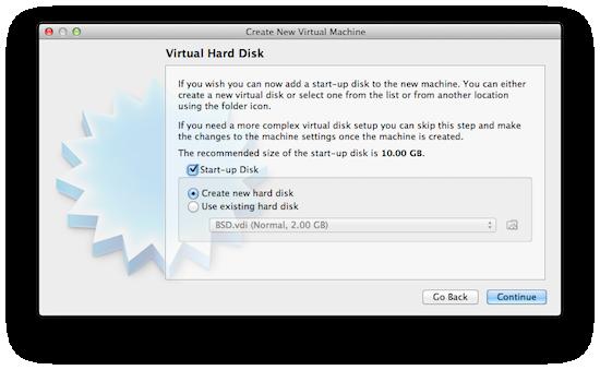 Virtualbox - Create Virtual Disk