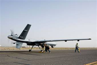 Check On An MQ 9 Reaper Before It Takes Off A Mission In Afghanistan Oct 1 The Is Larger And More Heavily Armed Than Predator