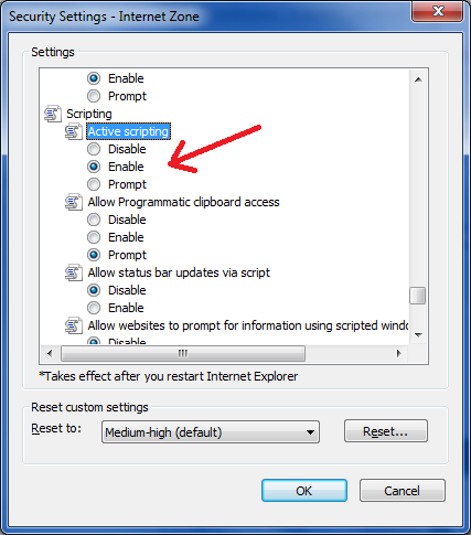 enable javascript in internet explorer