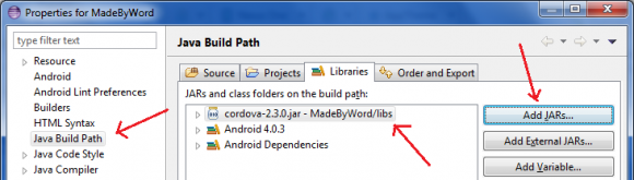 Setup PhoneGap for Android on Eclipse