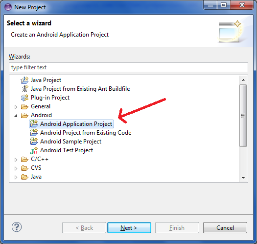 new-android-application-project-in-eclipse