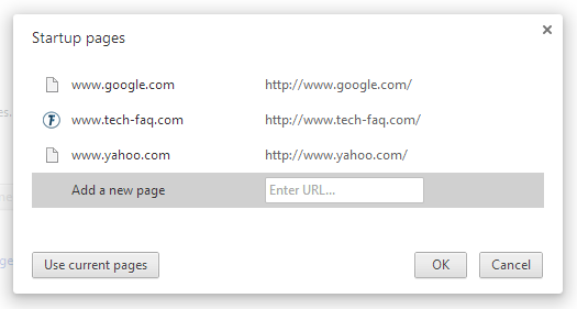 Load Multiple Web Pages in Google Chrome