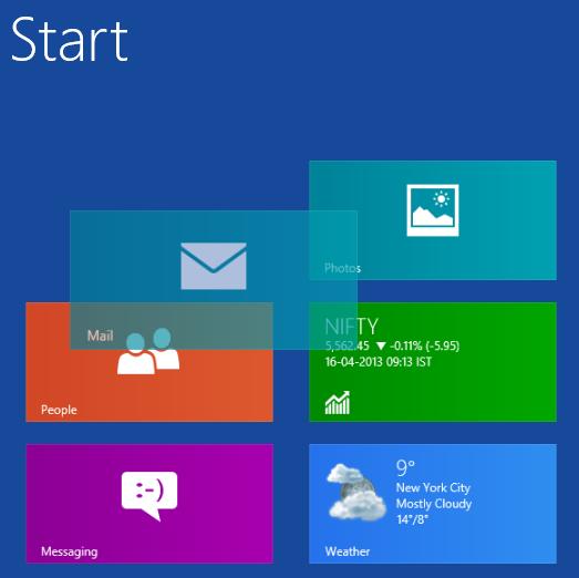 Move or Rearrange Tiles in Windows 8