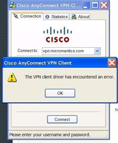 Cisco VPN Error 412