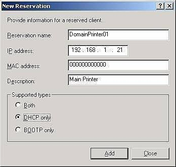 DHCP Reservation