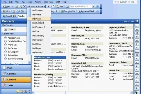 How to Use the Outlook Autodialer